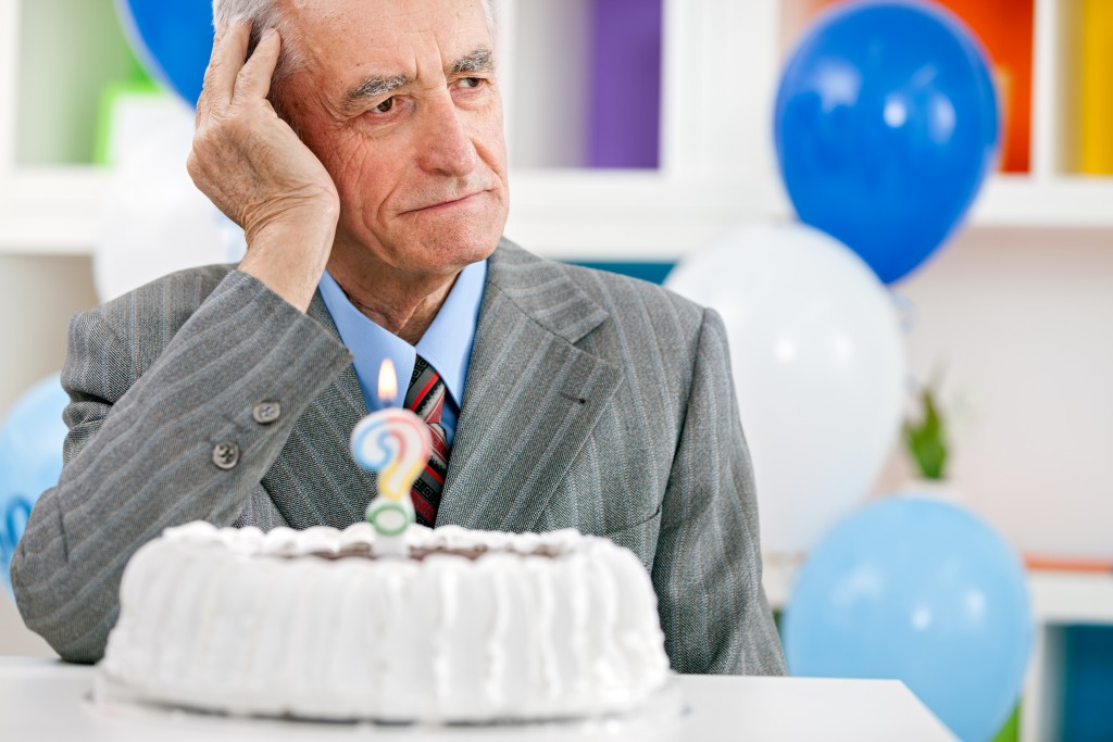 a senior worried man