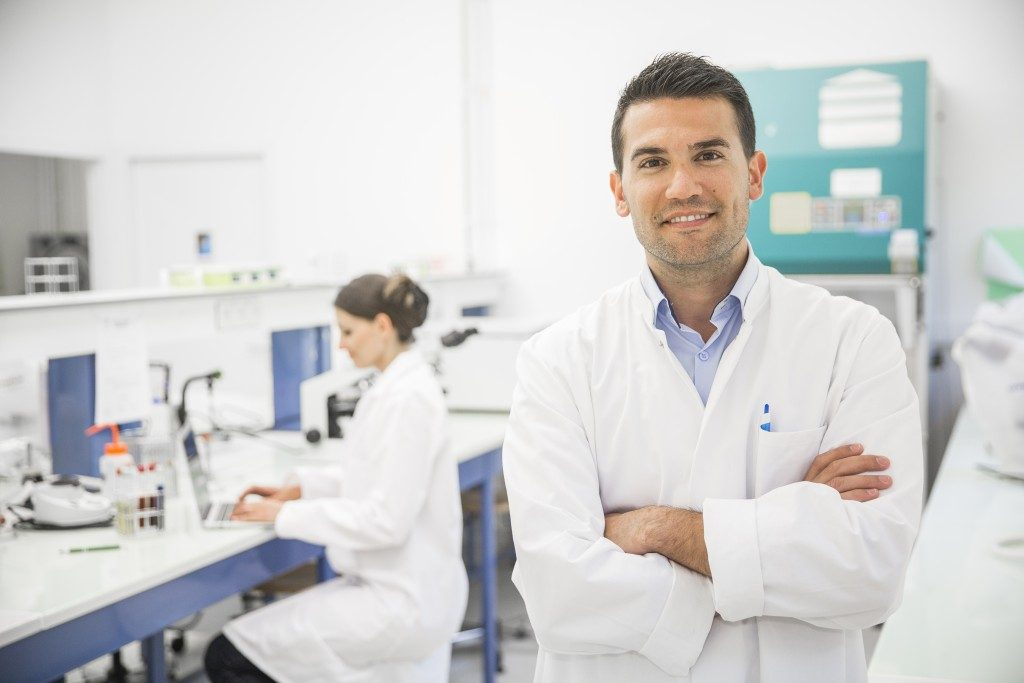Doctor on a clinical research