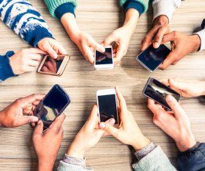 people using their phone
