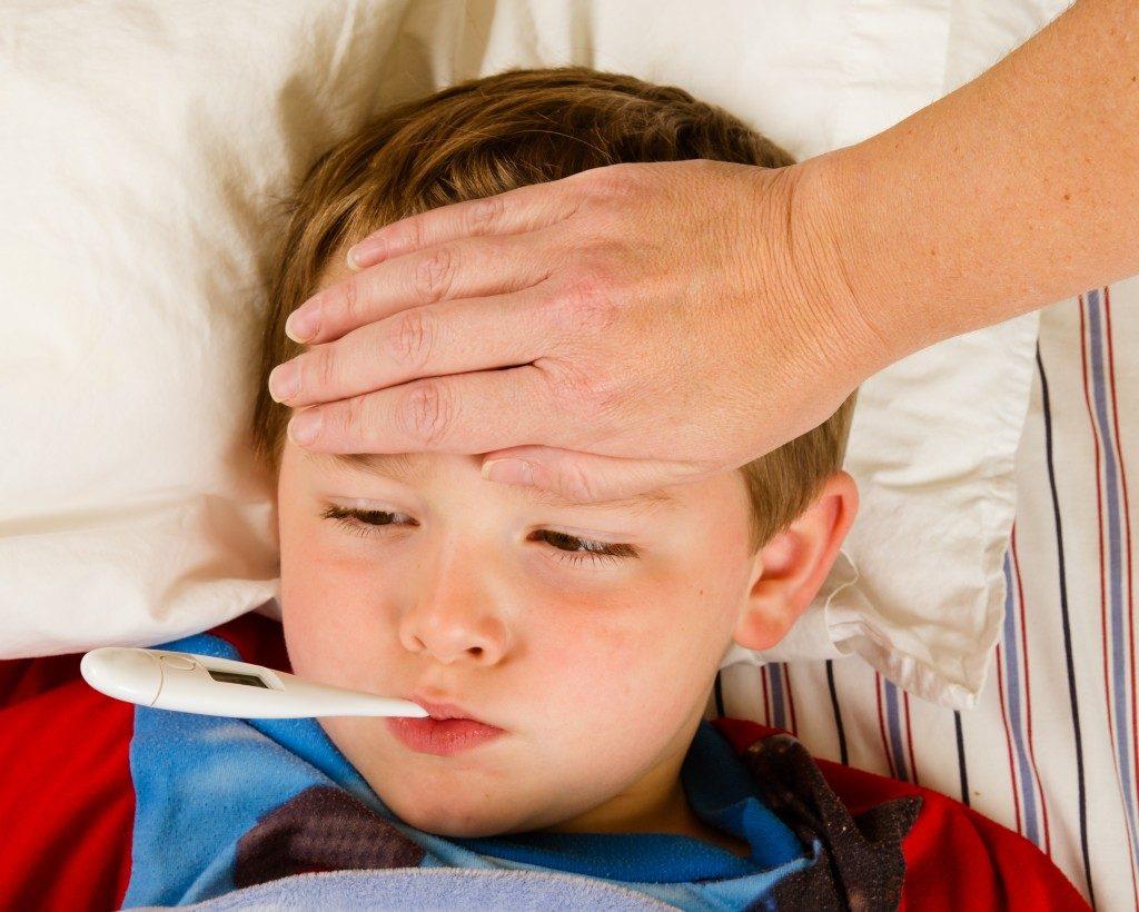 Kid having a fever