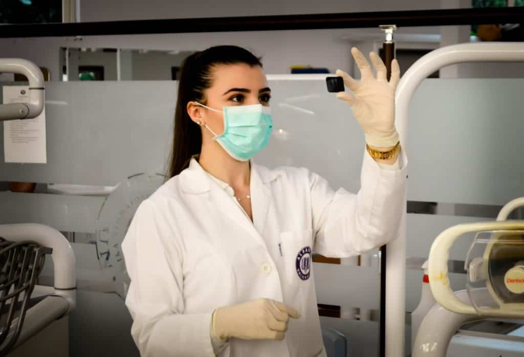 nurse student holding a test tube