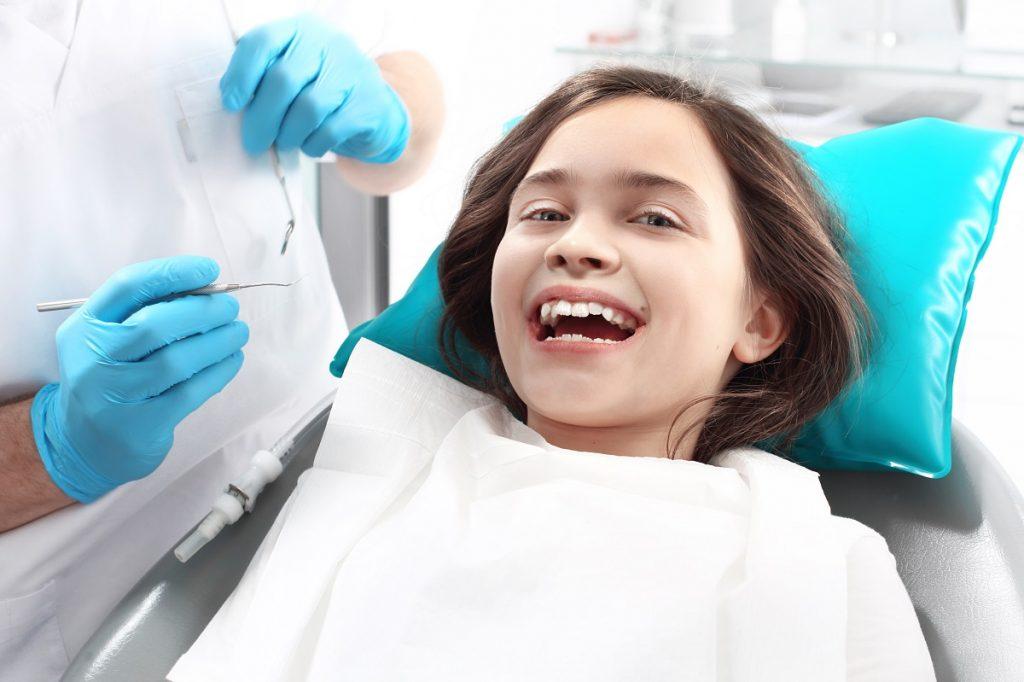 Kid having a dental treatment