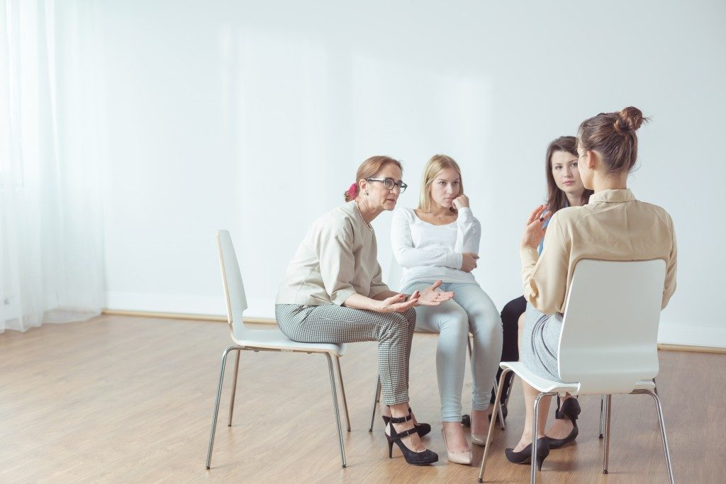 people at a support group session