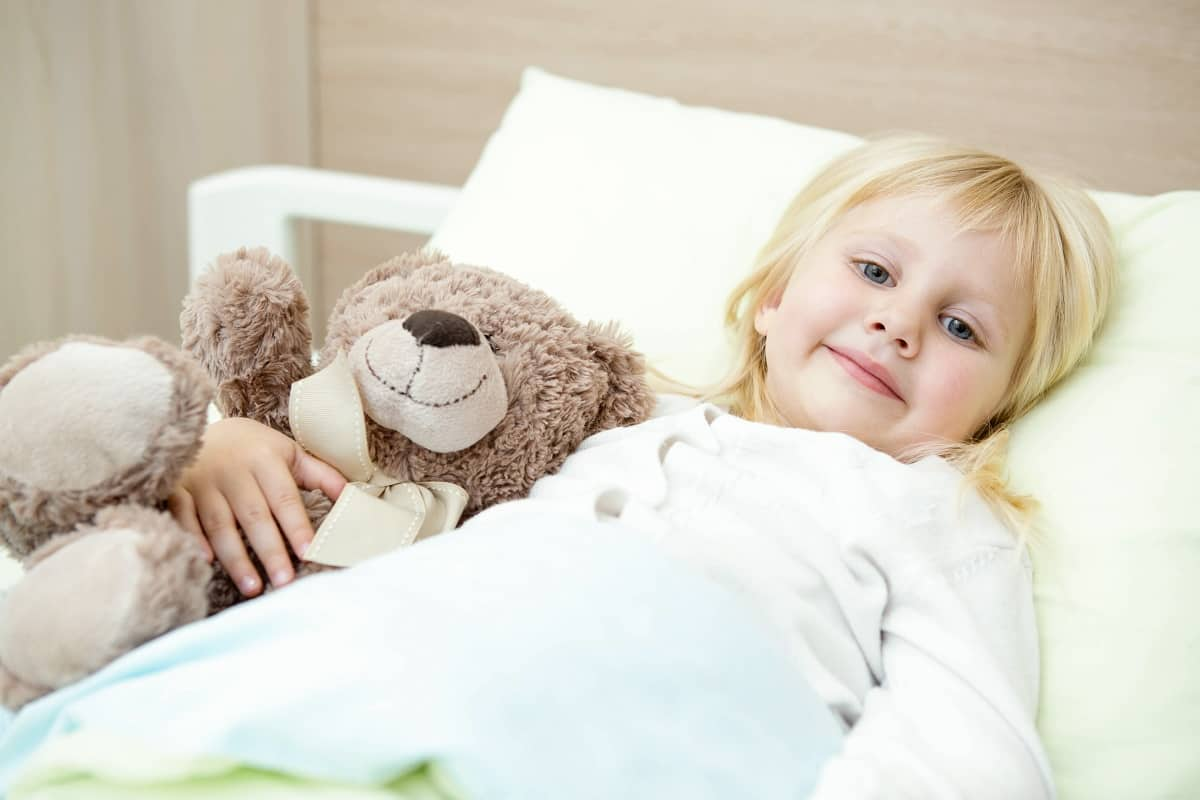 child at the hospital