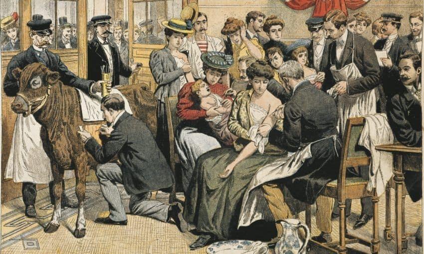 people receiving smallpox vaccine
