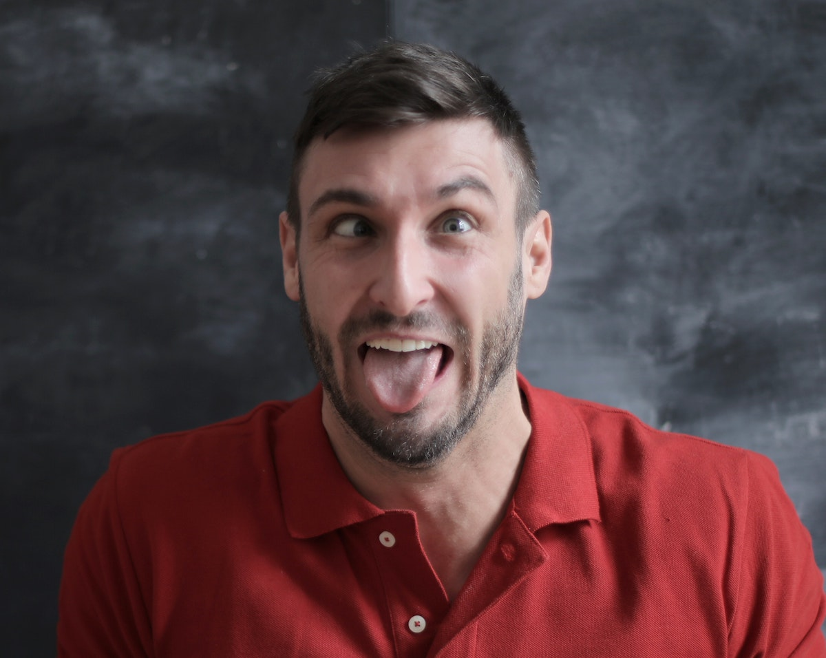 Man making a funny face