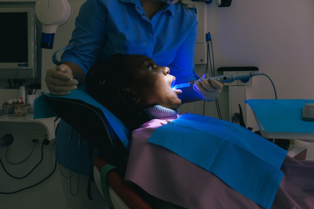 patient on a dental chair