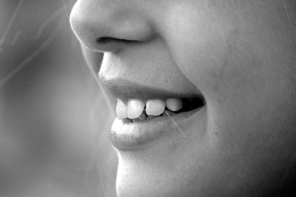 closeup of a woman's smile